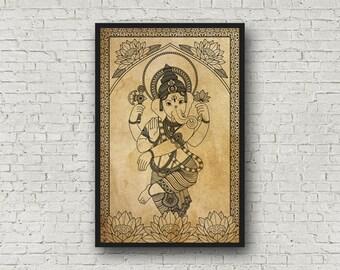 Ganesha Archival Quality Fine Art Print: Color Options, 11x17''