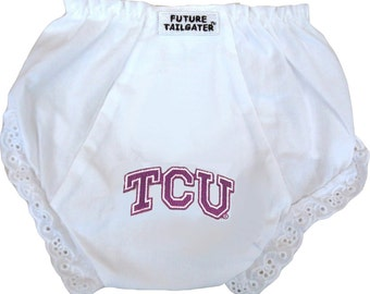 Texas Christian TCU Baby Diaper Cover