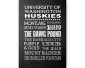 University of Washington Huskies Chalkboard Digital Download