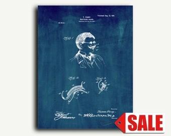 Patent Print - Mustache-guard Patent Wall Art Poster
