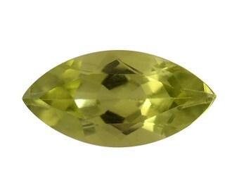 Hebei Peridot Loose Gemstone Marquise Cut 1A Quality 10x5mm TGW 0.80 cts.
