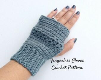 Easy Fingerless Gloves Crochet Pattern, Beginners Wrist Warmer Pattern