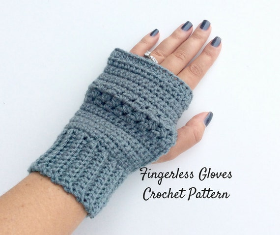 Crochet Fingerless Gloves Pattern Beginner : Easy Fingerless Gloves Crochet Pattern Beginners Wrist Warmer