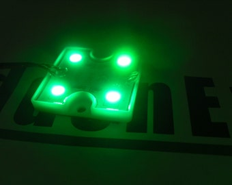 Quad 5050 LED Accent Light Blue Green Red or White with super flexible lead wire
