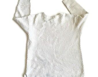 90's Minimal Textured Knit Oversized Top