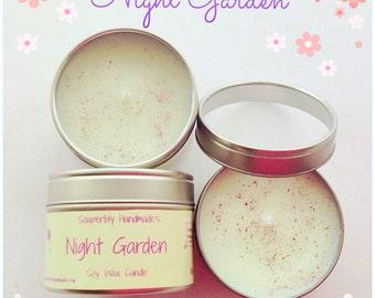 Jasmine, Tuberose, Lavender, Stargazer lily, Night Garden, soy wax candle,