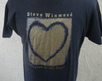 Size XL- (44) -- 1991 Steve Winwood Concert Shirt (Double Sided)