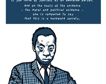 James Baldwin Poster