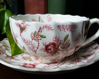 Spode Copeland Vintage Tea cup and Saucer in Rosebud Chintz