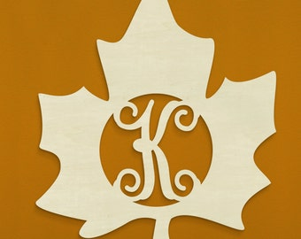 "19.5"" Maple Leaf Monogram"