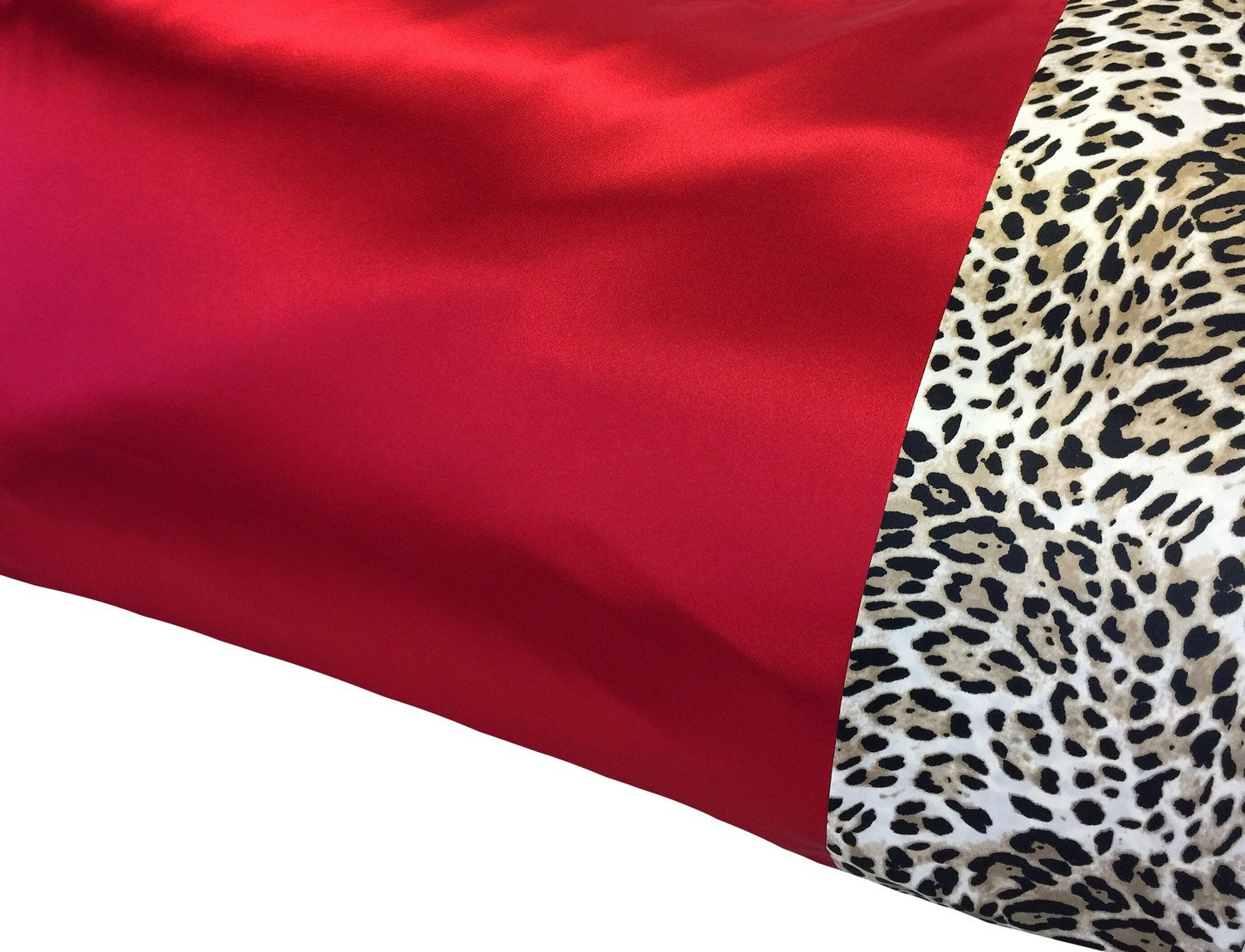 Leopard and red bedding - Crimson Red Satin Pillowcase Deep Red Leopard Satin Pillow Case Red And Leopard Bedding Snow Leopard Red Black Bedding Satin Swank