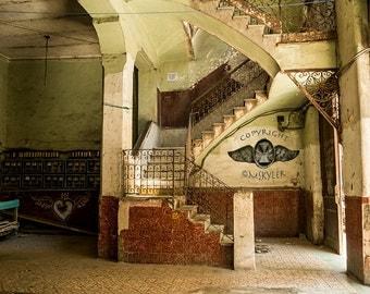 Havana Lobby, Beautiful Patina, Cuba Color Architecture Photography