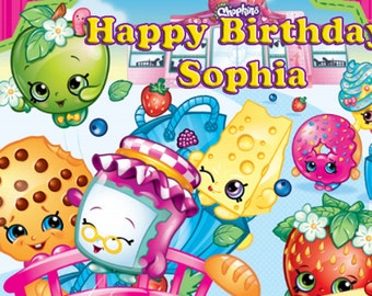 Shopkins Edible Cake Topper CUPCAKE and 4 CAKE TOPPERS