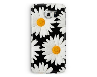 For Samsung Galaxy S7 Edge, Daisy S7 Cover, Floral Phone Case, Cute Samsung Case, Girls s7 Case, Protective Case, 90s Grunge Samsung s7 Case