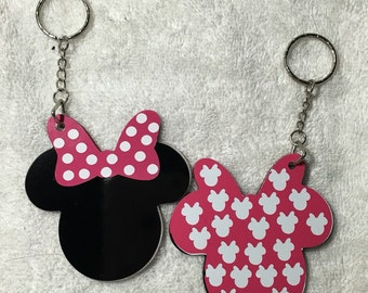 Minnie Personalized Acrylic Keychain