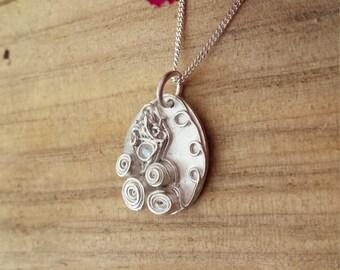 Unique Handmade Silver Pendant Gift