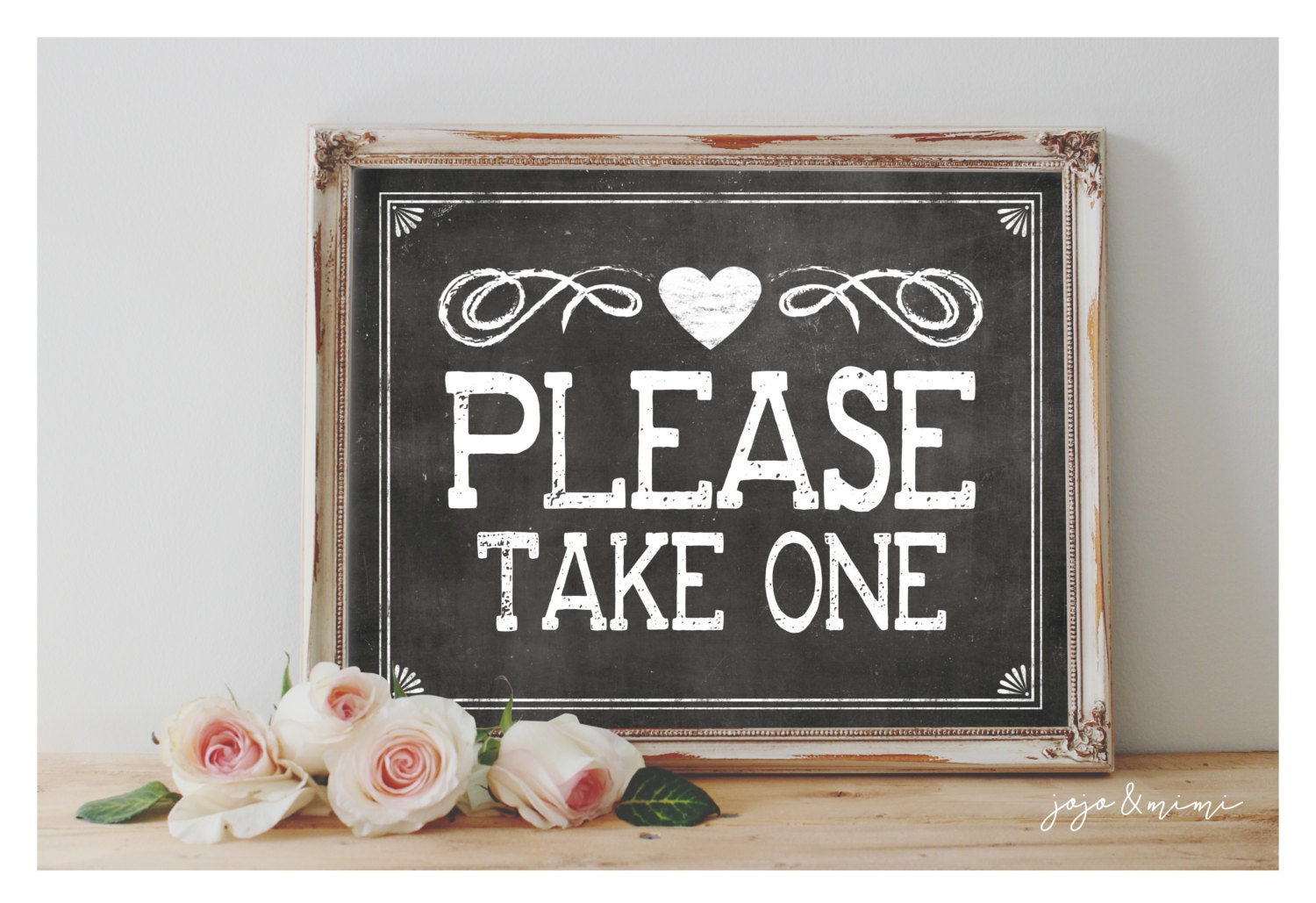 Lucrative image throughout please take one sign printable