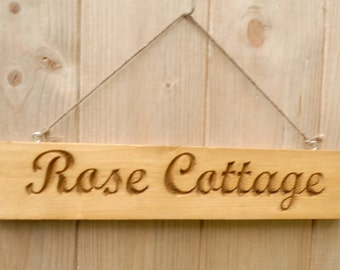 Handmade Personalised Wooden Engraved House & Name Signs/Plaques New