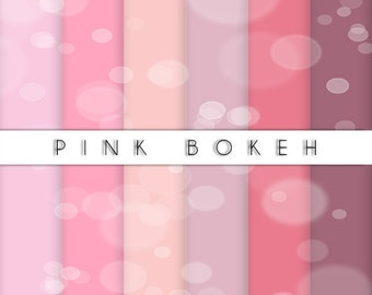 Pink Bokeh Collection-set of paper for scrapbooking