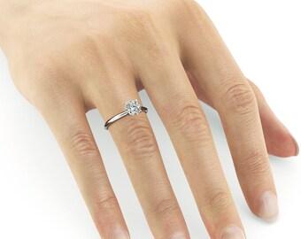 Diamond Engagement Ring, 1.5 Carat Diamond Ring, White Gold Ring, Engagement Gift For Her, Diamond Gold Ring FREE SHIPPING