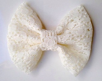 Lace bow/ Headband/ Hair clip/ Baby/ Toddler/ Girls