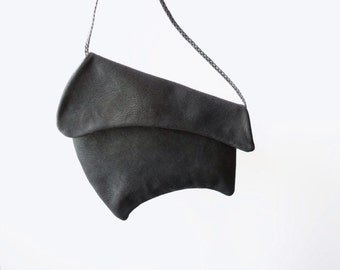 Leather crossbody bag Crossbody leather bag Shoulder bag Black leather bag Leather handbag Woman leather bag