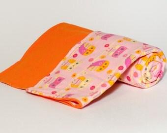 Baby blanket - Owls - Swaddler - 100% Cotton Flannel