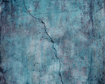 3x4 Abstract Photo Backdrop of Distressed Blue Concrete - FabVinyl 3x4ft (FV3020)