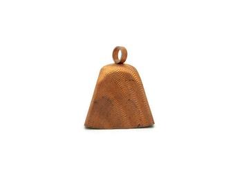 Vintage Copper Steel Cow Bell Pendant, 1pc