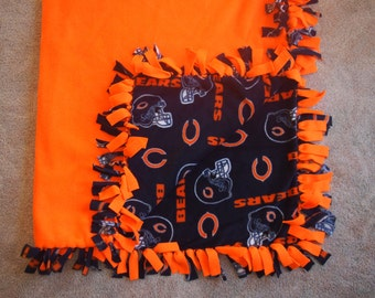 Chicago Bears Fleece Tie Blanket