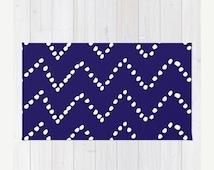 ON SALE Chevron Dots Area Rug - Navy Blue and White Area Rug - Nursery Rug - Modern Home Decor - By Aldari Home