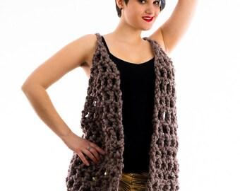 Brown fuzzy Vest
