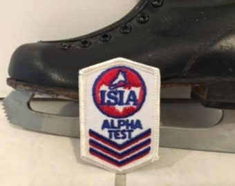 Vintage ISIA Alpha Test Patch