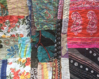 Kantha Quilts 89 x 60 Multicolored Quilts Throws