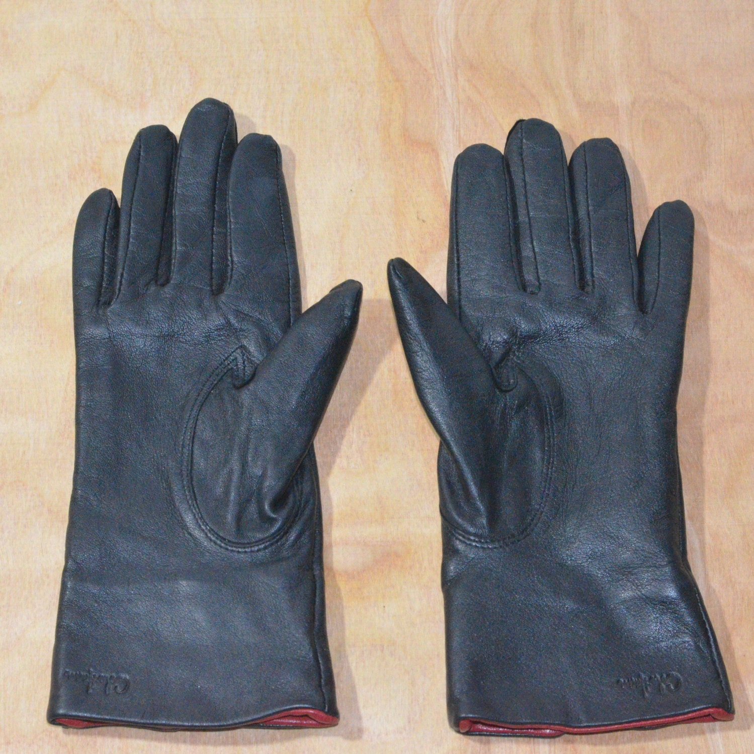 Cole haan black leather gloves - Cole Haan Black Leather Gloves 43