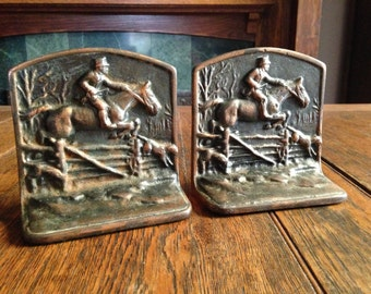 Hunting Horse Bookends