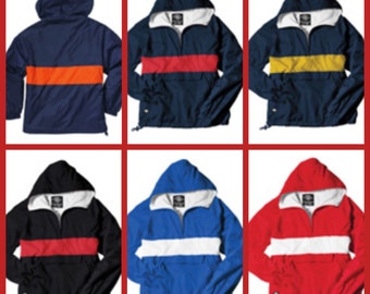 Quality Monogram Charles River Striped Pullover!! FREE monogram or add your Team LOGO