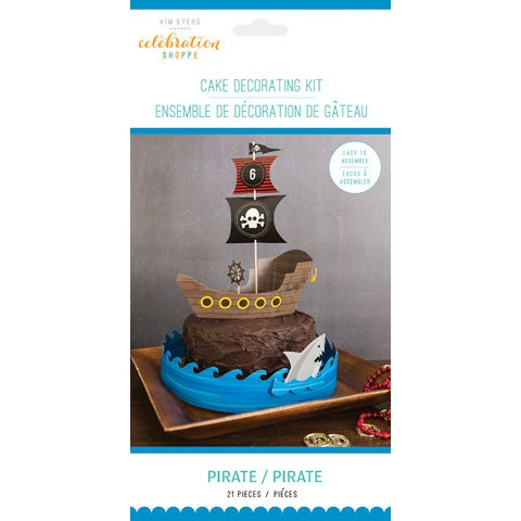 Pirate Party Cake Decorating Kit/ Pirate Party Cake Kit/