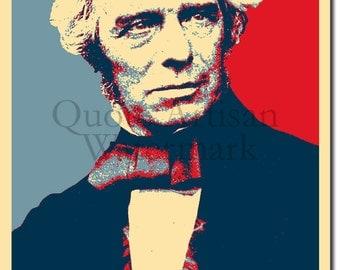 Michael Faraday Original Art Print - Photo Poster Gift