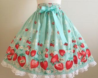FigliaS061 Flowery Strawberry Skirt