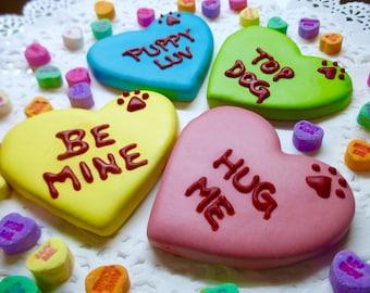 Dog Treats: Homemade Valentine Conversation Heart Dog Cookie