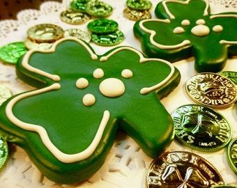 Gourmet Dog Treats: Homemade Giant Shamrock Dog Cookie - St. Patrick's Day