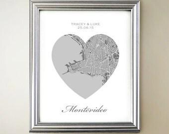 Montevideo Heart Map