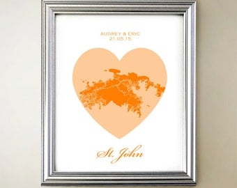 Saint John Heart Map
