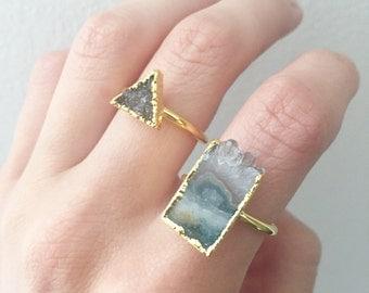 Amethyst Slice Ring