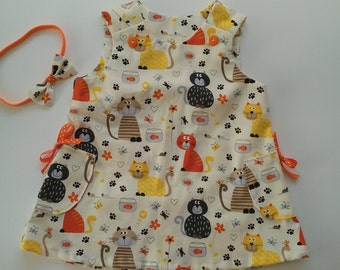 Infant A-line Dress and Hair Bow