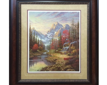 The Good Life By Thomas Kinkade Framed Print Signed & Numbered - Limited Edition
