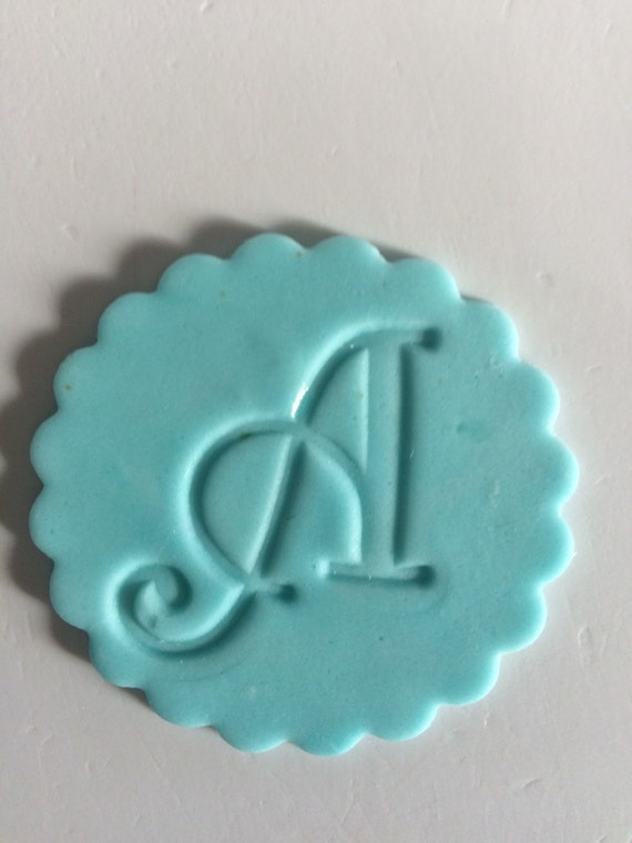 12 fondant letter number cupcake toppers edible fondant