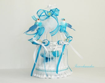 Door alliances cage bird marriage birds feathers flowers and ribbons