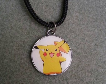 Adorable pokemon pikachu necklace